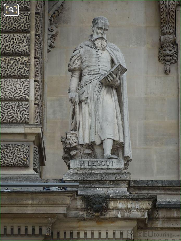 Pierre Lescot Statue On Aile En Retour Mollien