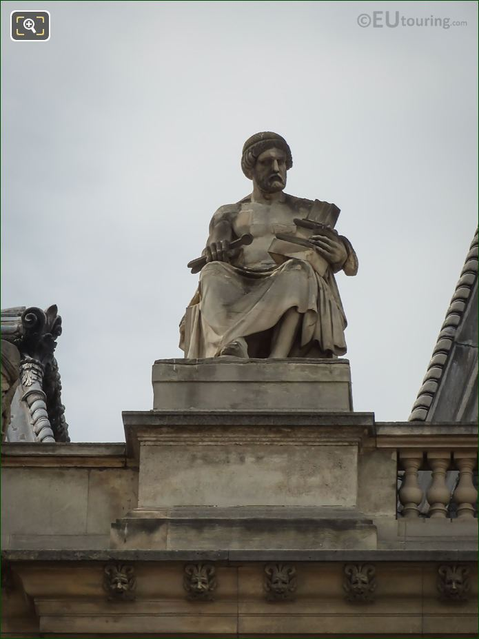 L'Architecture Statue On Pavillon Lesdiguieres At The Louvre