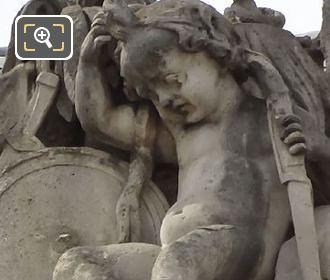 L'Asie Statue By Sculptor Jean Jacques Elshoecht