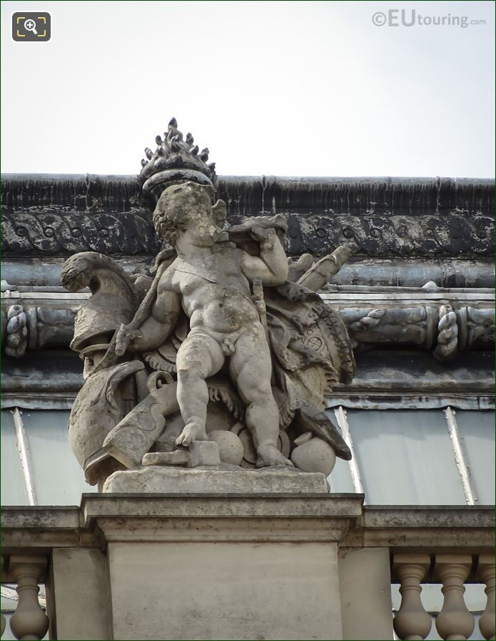 La Guerre Statue On Pavillon Lesdiguieres At The Louvre
