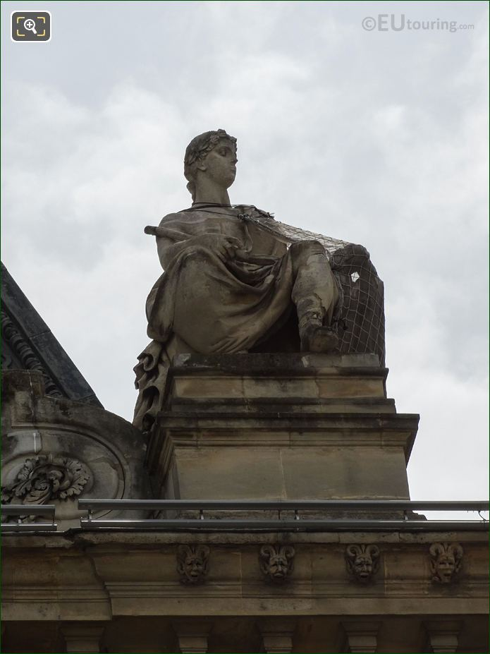La Justice Sculpture Pavillon Mollien Musee Louvre