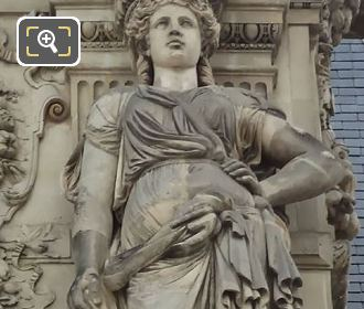 Eugene Lequesne 1857 Caryatid Sculpture Pavillon Mollien