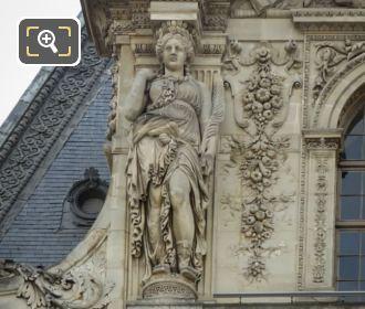 LHS Caryatid On Pavillon Mollien Western Facade