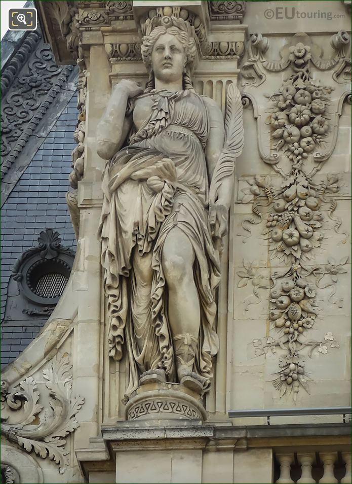Caryatid Sculpture By Eugene Lequesne
