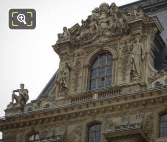 La Fermete Statue On Pavillon Mollien At The Louvre