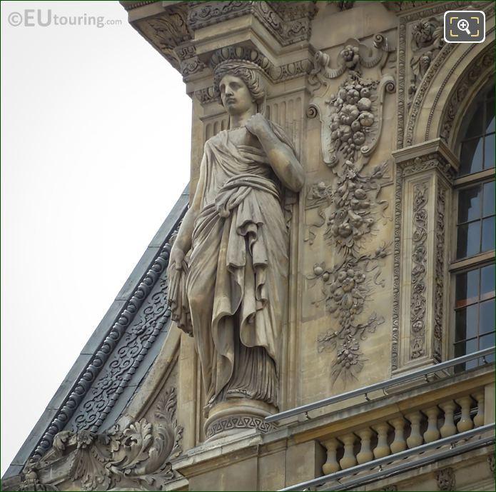 LHS Caryatid Sculpture By Sculptor Francois Jouffroy