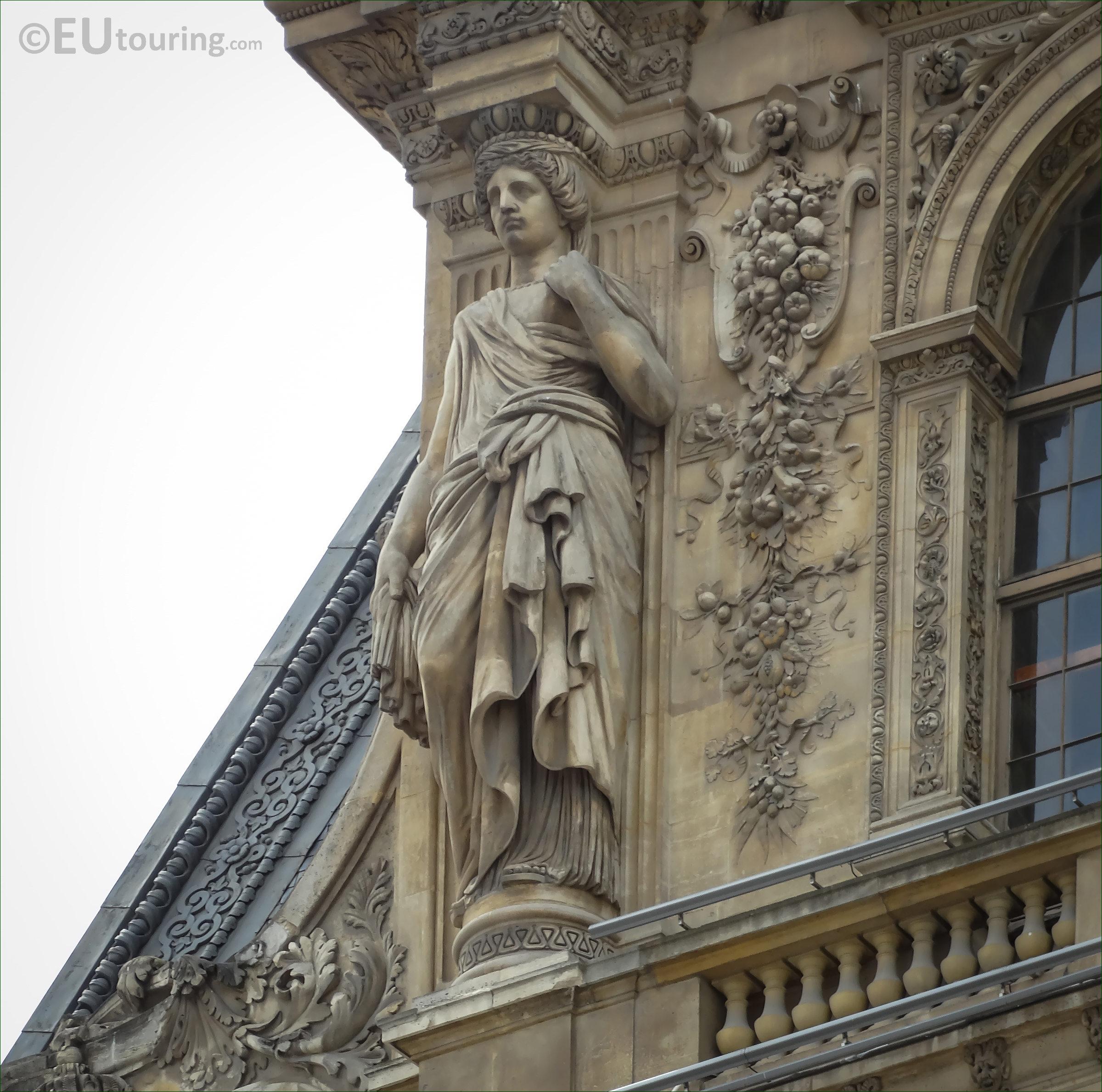 lhs caryatid sculpture on pavillon mollien at the louvre page 697