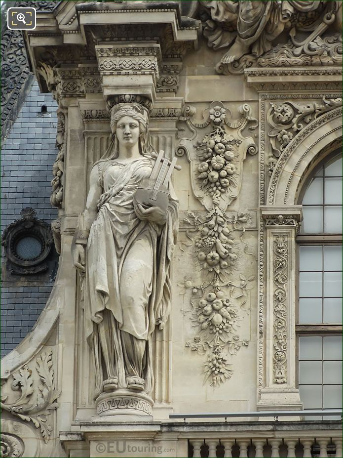 LHS Caryatid Pavillon Turgot South Facade