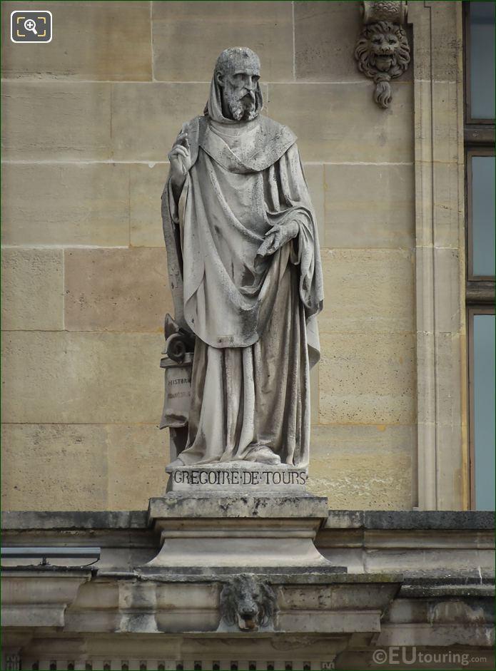 Gregoire De Tours Statue By Jean Marcellin