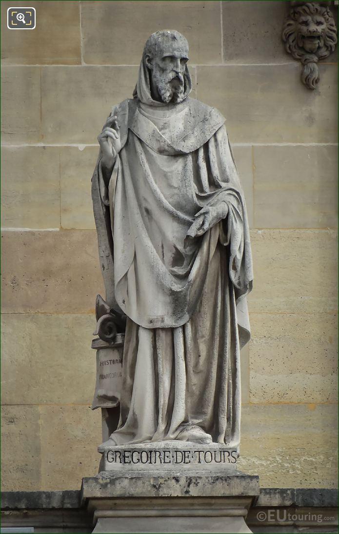 Inscription On The Gregoire De Tours Statue