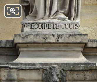 Musee Du Louvre Statue Gregoire De Tours