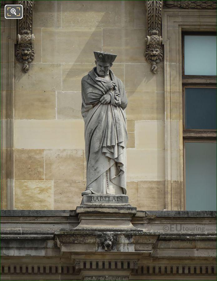 Francois Rabelais Statue On Aile Turgot