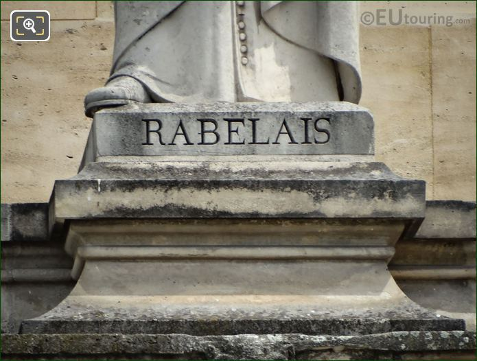 Name Inscription On Francois Rabelais Statue
