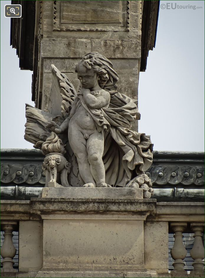 l'Hiver Statue Aile Turgot