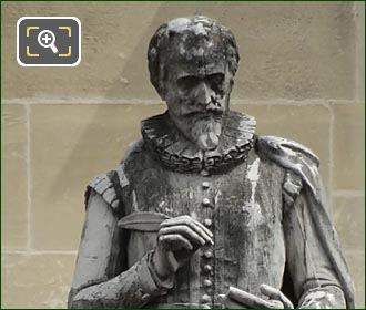 Francois De Malherbe Statue By Jean-Jules Allasseur