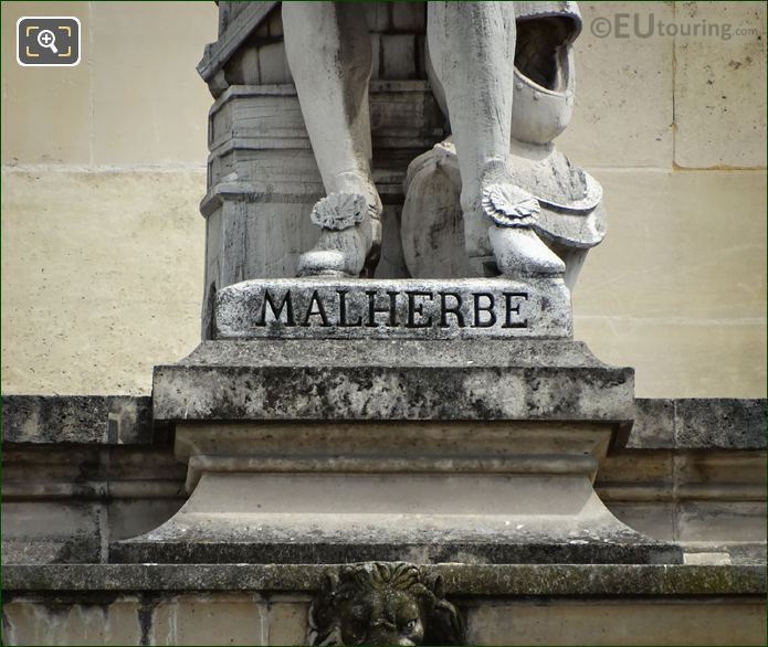 Name Inscription On Francois De Malherbe Statue