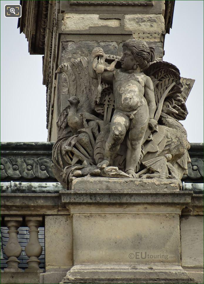 l'Oceanie Statue Aile Turgot Musee Du Louvre