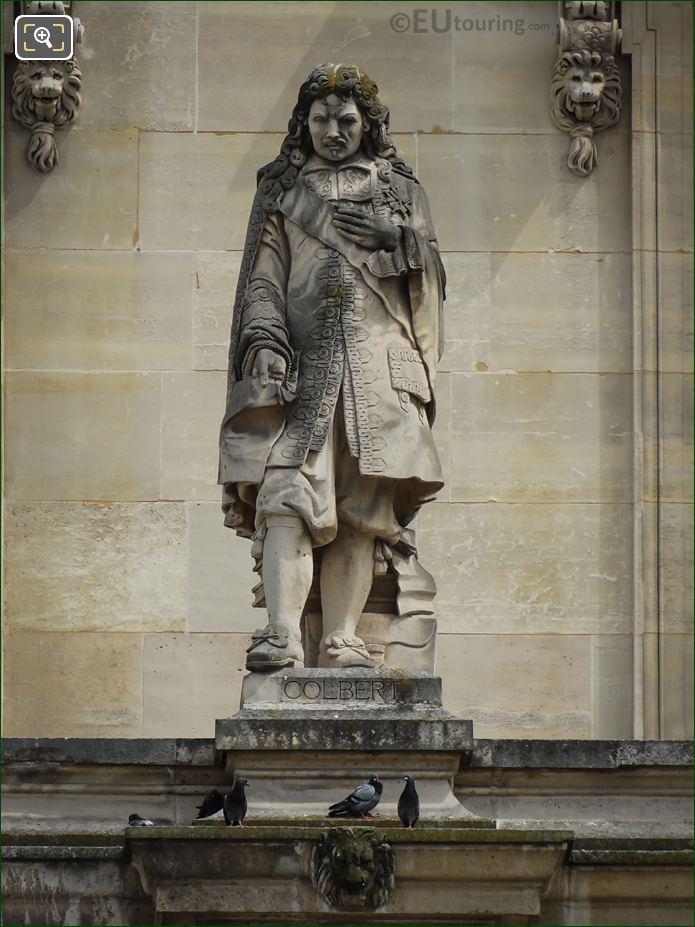 Jean-Baptiste Colbert Statue On Aile Turgot
