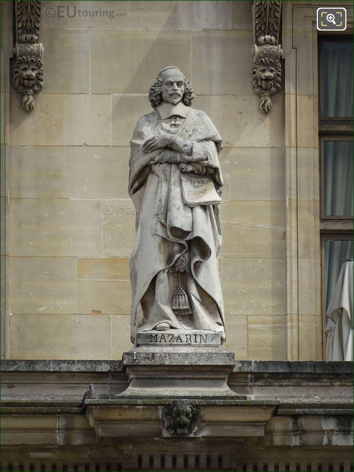 Cardinal Mazarin Statue On Aile Turgot