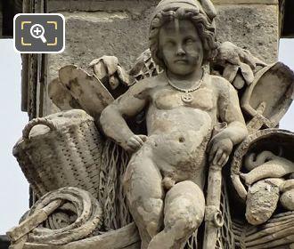La Peche Statue By Aime Napoleon Perrey