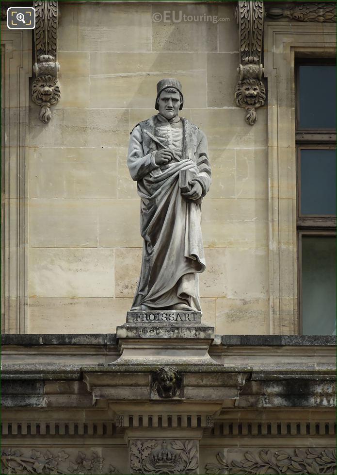 Jean Froissart Statue On Aile Turgot