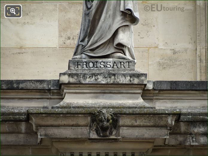 Name Inscription On Jean Froissart Statue