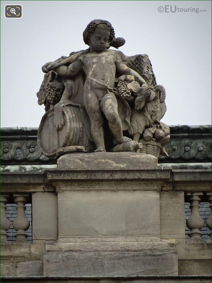 L'Automne Statue Aile Turgot At Musee Du Louvre