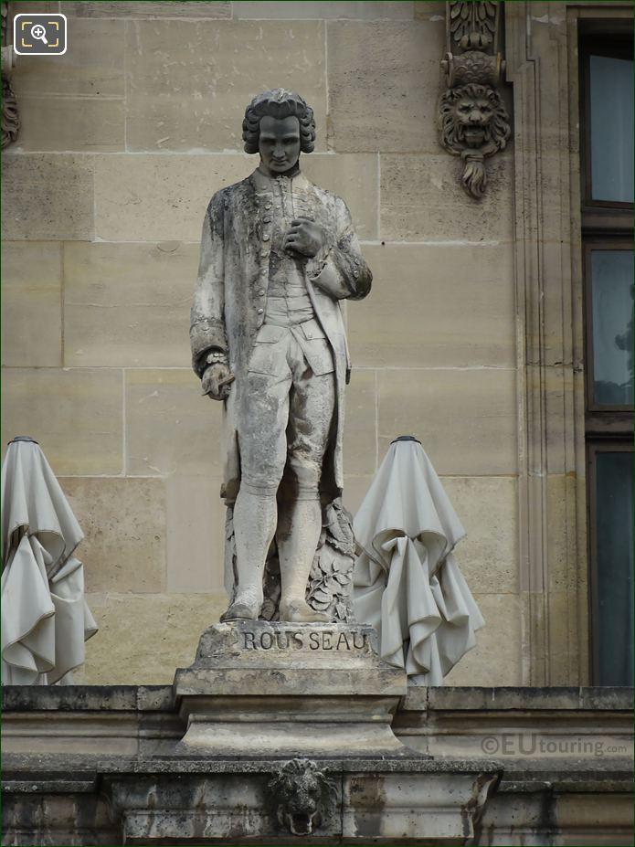 Jean Jacques Rousseau Statue On Aile Turgot