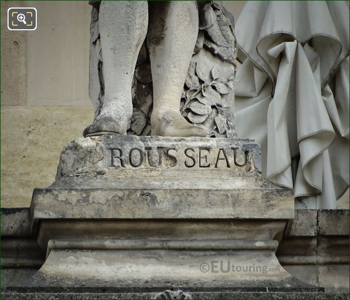 Name Inscription On Jean Jacques Rousseau Statue