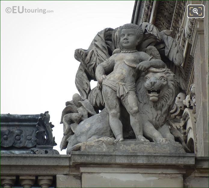 1857 l Afrique Statue By Louis Rochet Paris