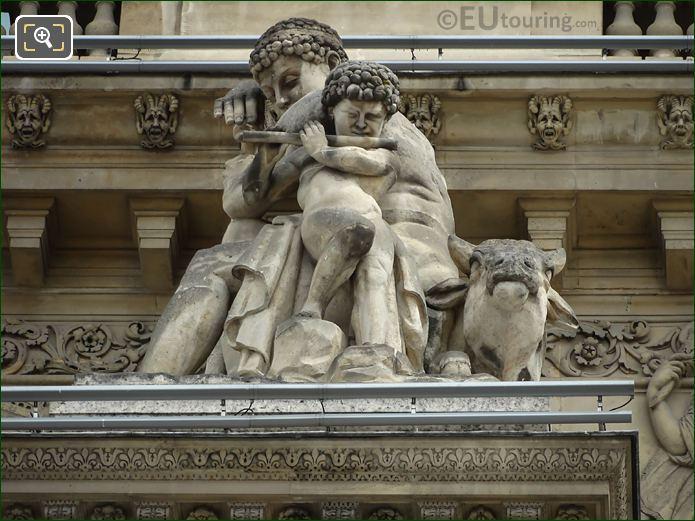 La Paix Statue Pavillon Richelieu Louvre