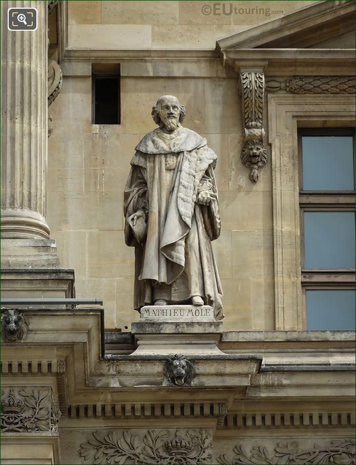 Mathieu Mole Statue By Charles-Francois Lebouef
