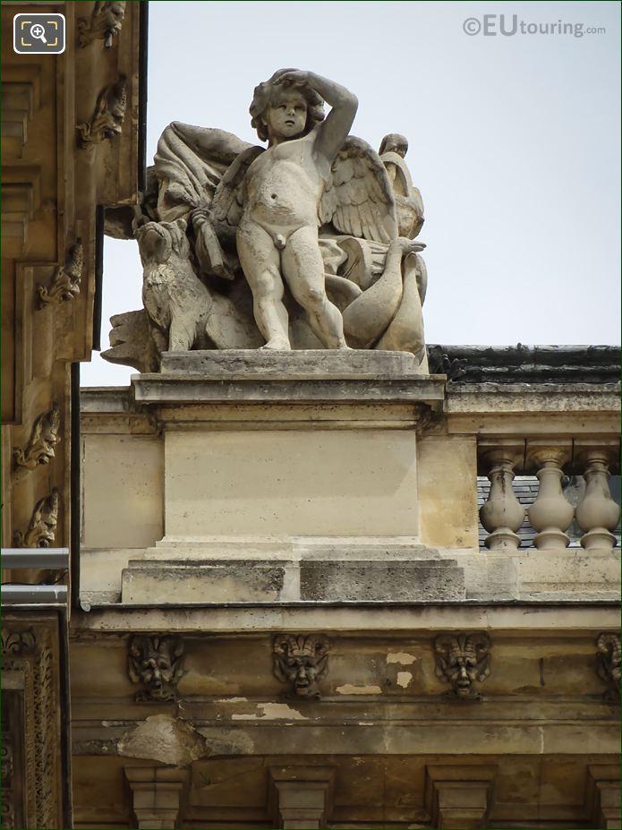 La Vigilance Statue Aile Colbert Wing