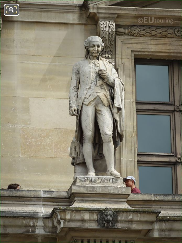 Anne-Robert-Jacques Turgot Statue On Aile Colbert