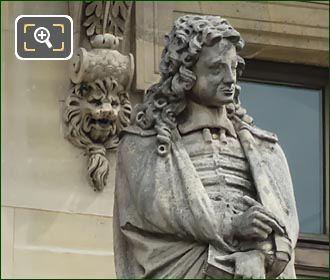 Jean De La Bruyere Statue By J Lescourne
