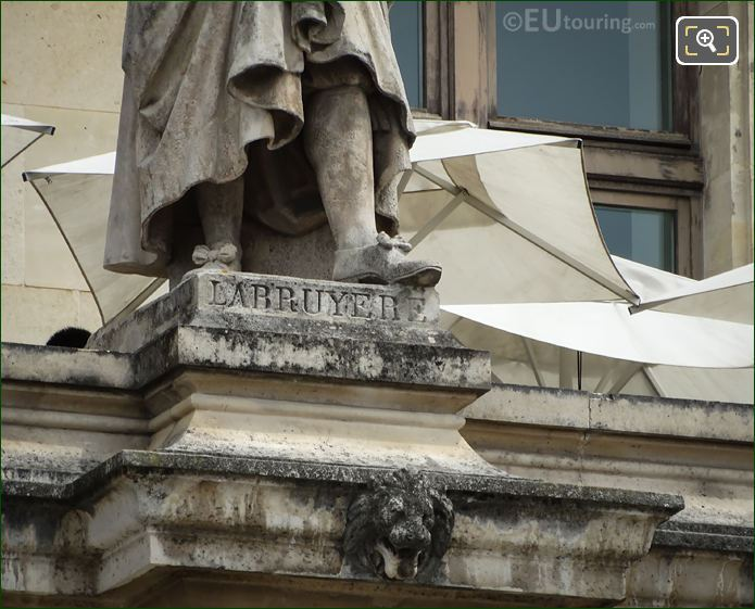 Name Inscription On Jean De La Bruyere Statue