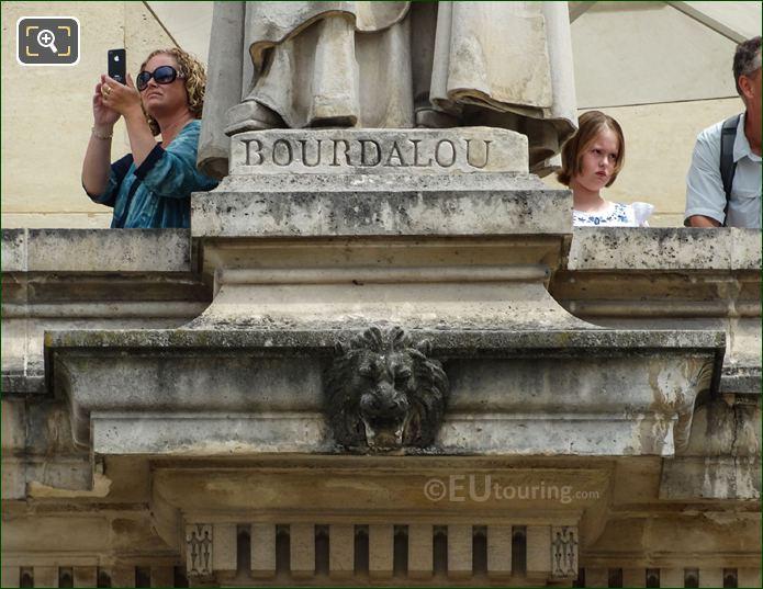 Louis Bourdaloue Inscription On Statue Base