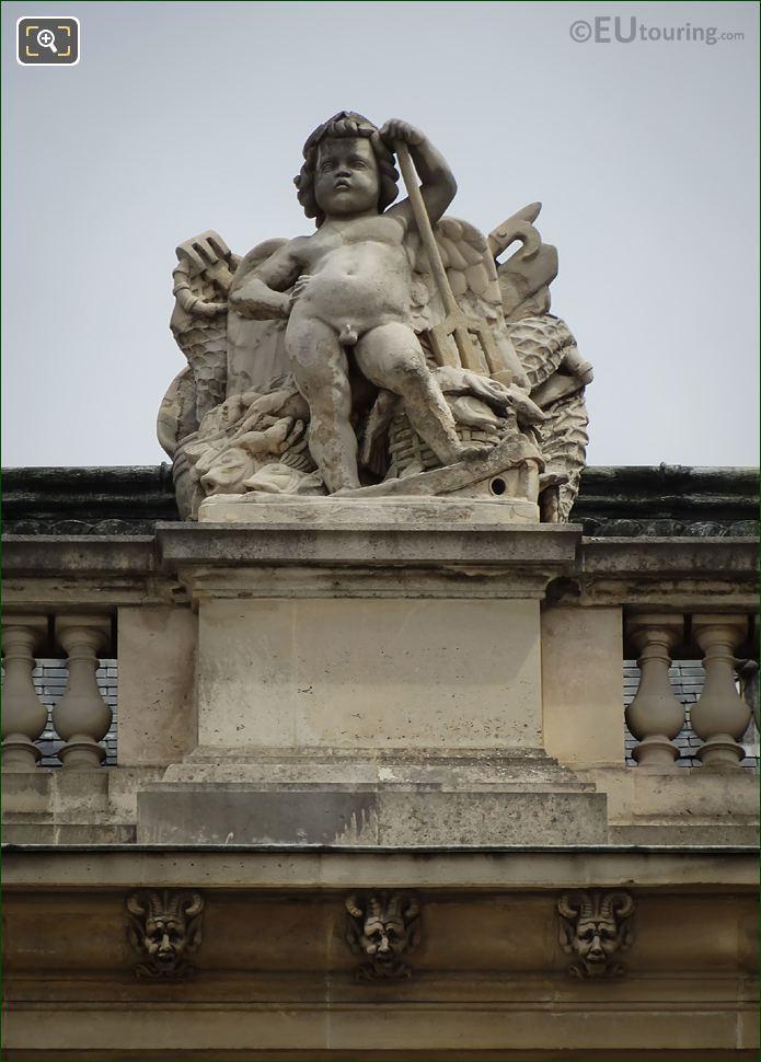 Le Genie De La Peche Statue Aile Colbert
