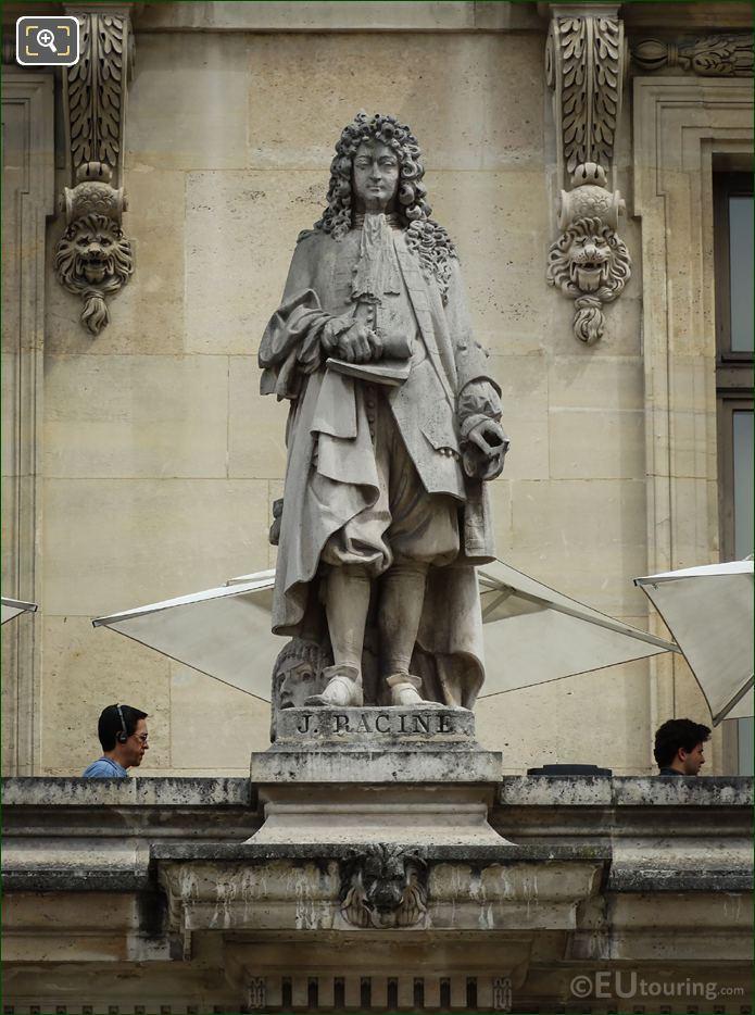 Jean Racine Statue On Aile Colbert