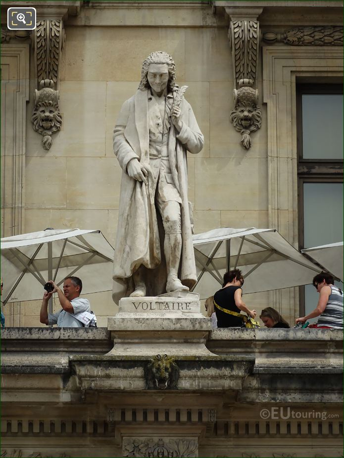 Voltaire Statue On Aile Colbert