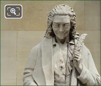 Voltaire Statue By Artist Antoine Desboeufs