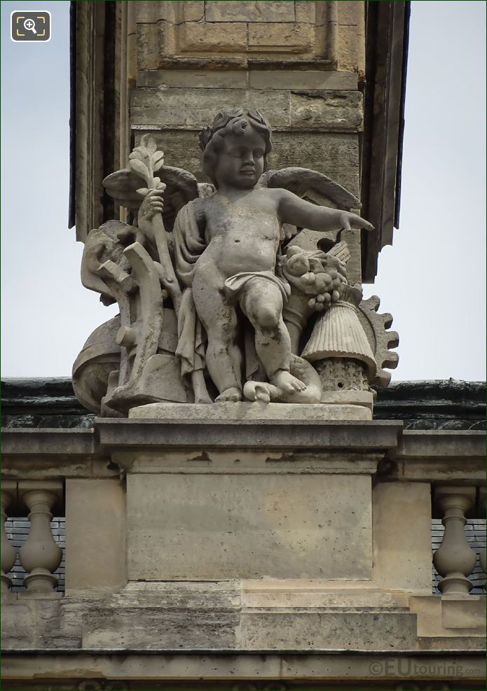 La Paix Statue Aile Colbert