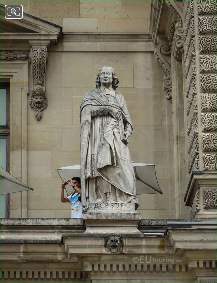 Jacques-Benigne Bossuet Statue At Musee Du Louvre