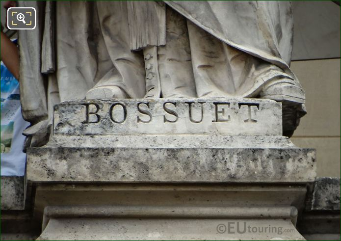 Name Inscription On Jacques-Benigne Bossuet Statue