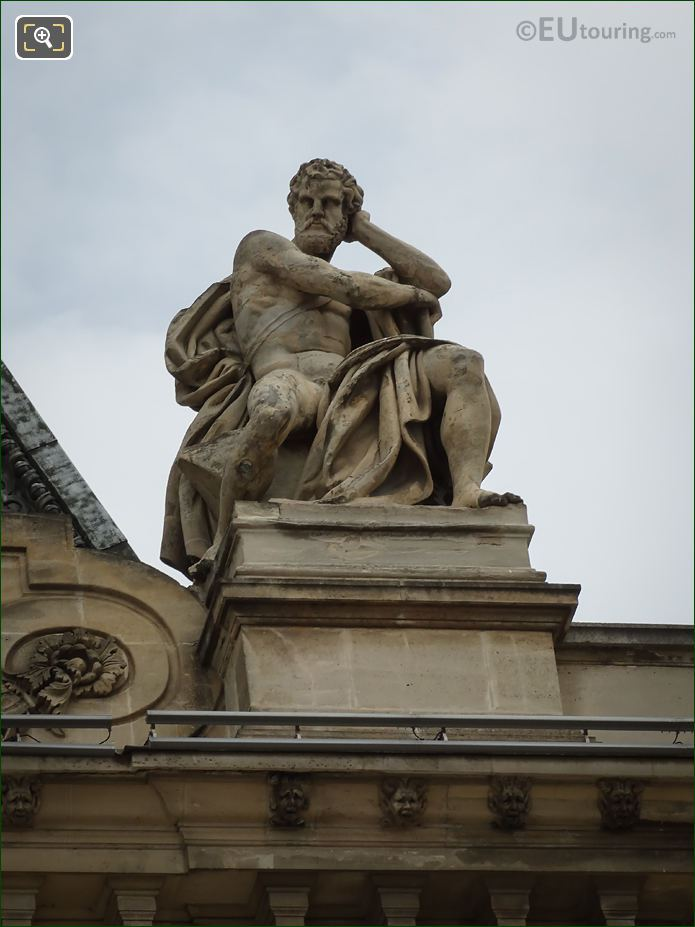 L'Industrie Statue On Pavillon Colbert