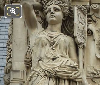 Nicolas Vilain Caryatid Sculpture LHS Pavillon Colbert