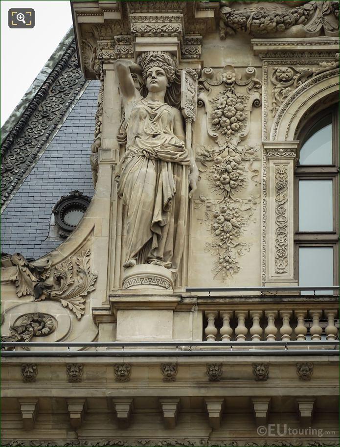 LHS Caryatid Sculpture By Nicolas Vilain Pavillon Colbert