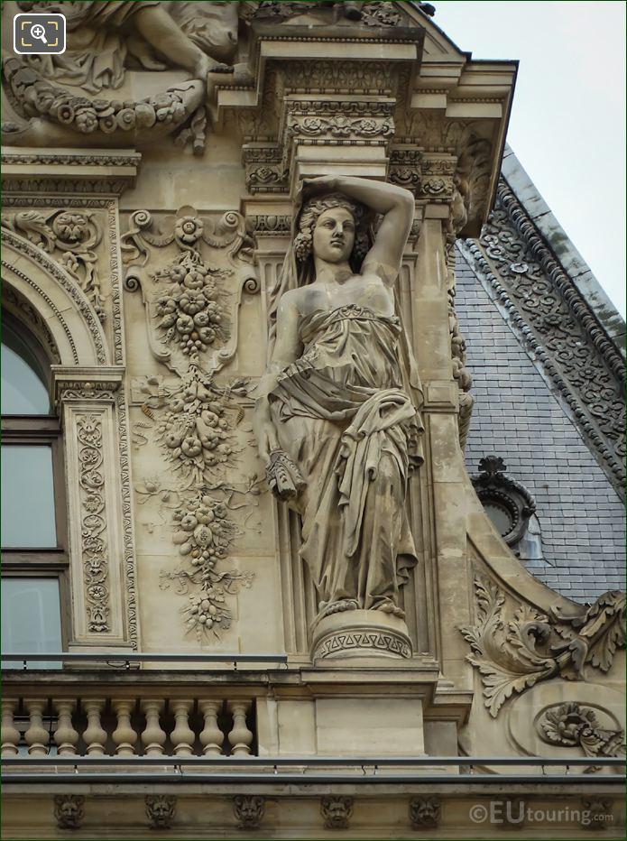 RHS Caryatid Sculpture Pavillon Colbert
