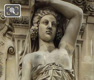 RHS Caryatid Sculpture By Nicolas Victor Vilain