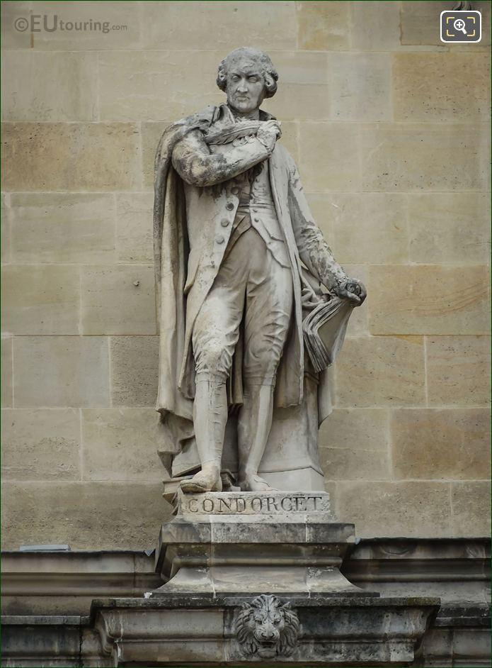 1857 Condorcet Statue By Pierre Loison